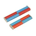 Cylindrical Bar Magnet, Pair, Chrome Steel